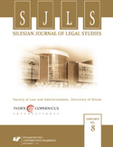 Ebook Silesian Journal of Legal Studies. Vol. 8