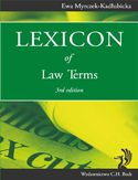 Ebook Lexicon of Law Terms