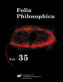 Ebook Folia Philosophica. Vol. 35