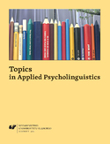 Ebook Topics in Applied Psycholinguistics