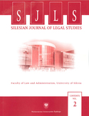 Ebook Silesian Journal of Legal Studies. Contents Vol. 2