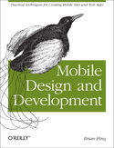 Ebook Mobile Design and Development. Practical concepts and techniques for creating mobile sites and web apps