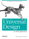 Ebook Universal Design for Web Applications. Web Applications That Reach Everyone
