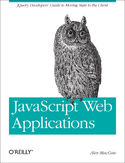 Ebook JavaScript Web Applications. jQuery Developers' Guide to Moving State to the Client