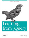 Ebook Learning from jQuery. Building on Core Skills