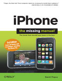 Ebook iPhone: The Missing Manual. Covers All Models with 3.0 Software-including the iPhone 3GS. 3rd Edition