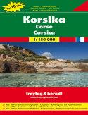 Korsyka. Mapa samochodowa