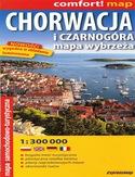 Wybrzeże Chorwacji i Czarnogóry. Mapa ExpressMap / 1:300 000