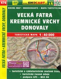 Veľká Fatra, Kremnické vrchy, Donovaly, 1:40 000