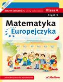 Księgarnia Matematyka Europejczyka. Zeszyt ćwiczeń dla szkoły podstawowej. Klasa 4. Część 3