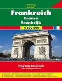 Francja. Mapa Freytag & Berndt 1:800 000