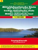 Chorwacja cz.4 Mljet Medziugorie Dubrownik mapa 1:100 000 Freytag & Berndt