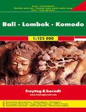 Bali, Lombok, Komodo. Mapa Freytag & Berndt / 1:125 000