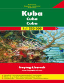 Kuba. Mapa samochodowa