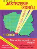 Jastrzębie Zdrój  mapa 1:100 000 WZKart