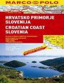 Wybrzeże Chorwacji, Słowenia. Mapa