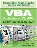 Księgarnia VBA dla Excela 2003/2007. Leksykon kieszonkowy