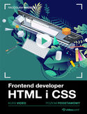 Ebook Frontend developer. Kurs video. HTML i CSS. Poziom podstawowy