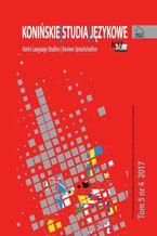 Konińskie Studia Językowe Tom 5 Nr 4 2017