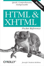 Okładka książki HTML and XHTML Pocket Reference. 3rd Edition