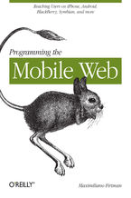 Okładka książki Programming the Mobile Web