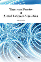 """Theory and Practice of Second Language Acquisition"" 2015. Vol. 1 (1)"