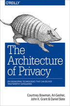 Okładka książki The Architecture of Privacy. On Engineering Technologies that Can Deliver Trustworthy Safeguards