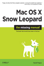 Okładka książki Mac OS X Snow Leopard: The Missing Manual. The Missing Manual
