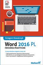 Okładka książki Word 2016 PL. Ćwiczenia praktyczne