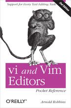 Okładka książki vi and Vim Editors Pocket Reference. Support for every text editing task. 2nd Edition