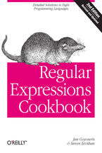 Okładka książki Regular Expressions Cookbook. Detailed Solutions in Eight Programming Languages. 2nd Edition