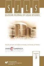 Silesian Journal of Legal Studies. Vol. 8