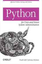 Okładka książki Python for Unix and Linux System Administration