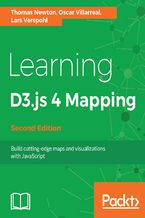 Okładka książki Learning D3.js 4 Mapping - Second Edition