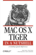 Okładka książki Mac OS X Tiger in a Nutshell. A Desktop Quick Reference