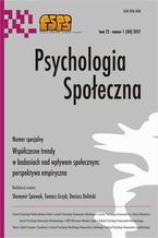 Psychologia Społeczna nr 1(40)/2017
