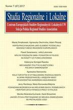 Studia Regionalne i Lokalne nr 1(67)/2017