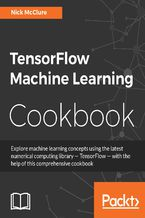 Okładka książki TensorFlow Machine Learning Cookbook