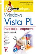 Okładka książki Windows Vista PL. Instalacja i naprawa. Ćwiczenia praktyczne