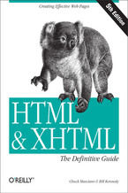 Okładka książki HTML & XHTML: The Definitive Guide. The Definitive Guide. 5th Edition