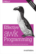 Okładka książki Effective awk Programming. Universal Text Processing and Pattern Matching. 4th Edition