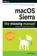 Okładka książki macOS Sierra: The Missing Manual. The book that should have been in the box