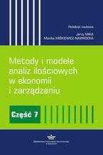 Metody i modele analiz ilościowych w ekonomii i zarządzaniu. Część 7