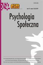 Psychologia Społeczna nr 2(41)/2017