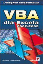 Okładka książki VBA dla Excela 2002/2003. Leksykon kieszonkowy