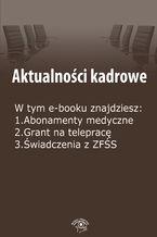 Aktualności kadrowe, wydanie sierpień 2014 r