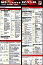 Okładka książki Tablice informatyczne. MS Access 2003 PL