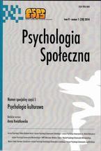 Psychologia Społeczna nr 1(28)/2014