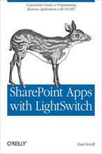 Okładka książki SharePoint Apps with LightSwitch