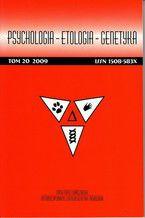 Psychologia-Etologia-Genetyka nr 20/2009